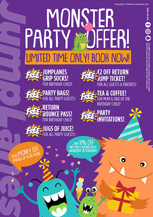 Monster Party Offer